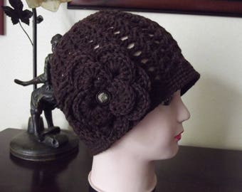 chocolate colored wool hat retro style