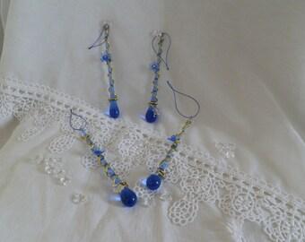 Blue /dorer glass Christmas ornament