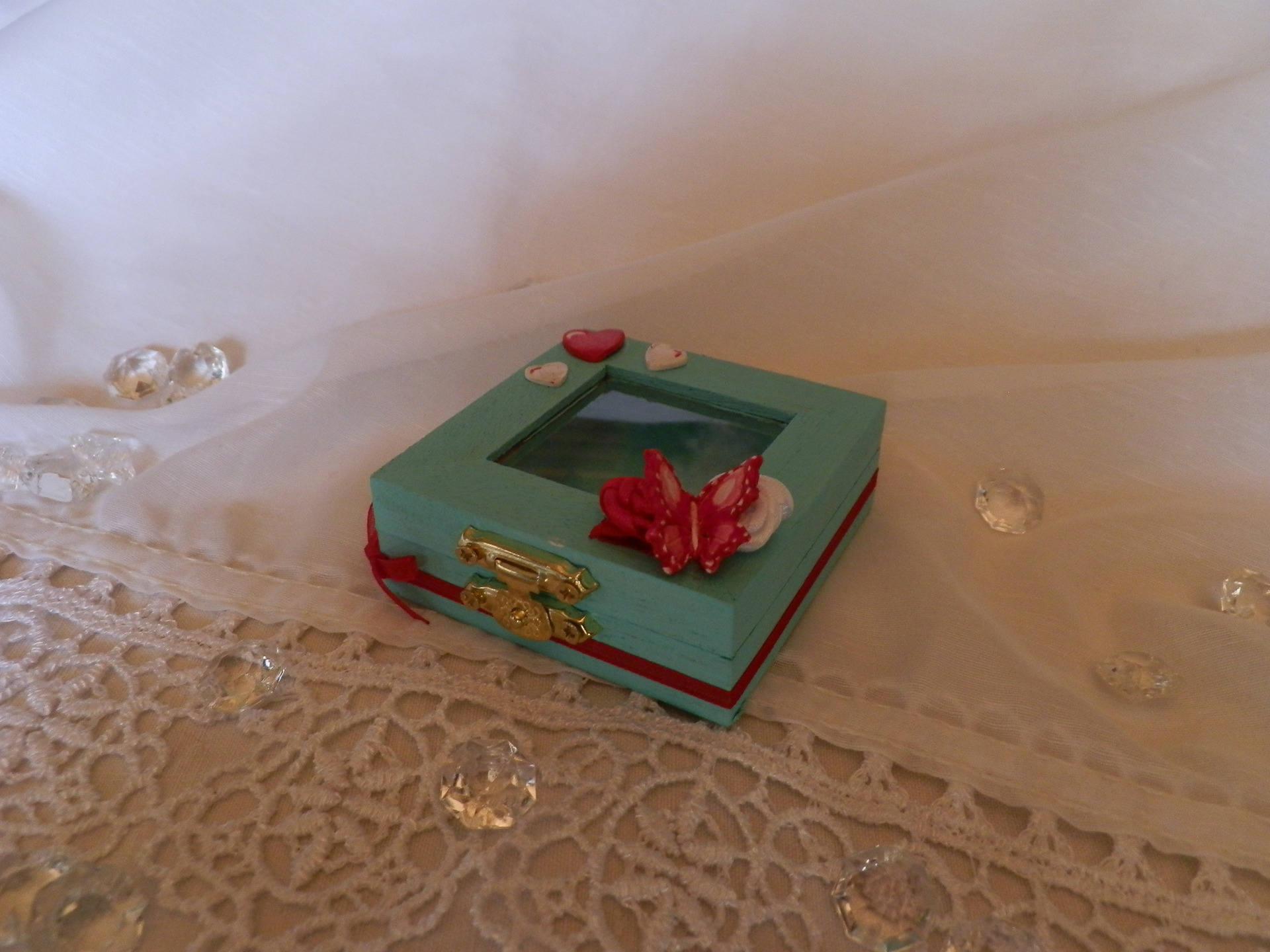 Kleine hölzerne Fotobox