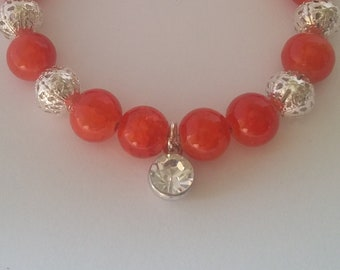 Filgree glass bead bracelet