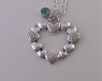 Valentine heart charm necklace