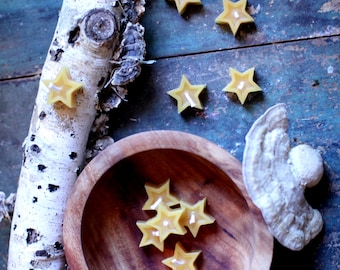 Beeswax Star Candles (Set of 10)