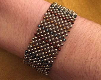 Peyote Cuff Bracelet