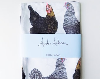 Multi Chicken Tea Towel