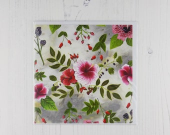Fruits of the Forest Floral Greetings Card
