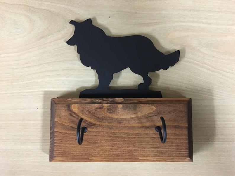 Border Collie Style 2 Dog Breed Wood Base Key Holder Leash Etsy
