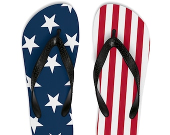 4cae3fb5312 American Flag Unisex Flip-Flops Trump is Punk Rock