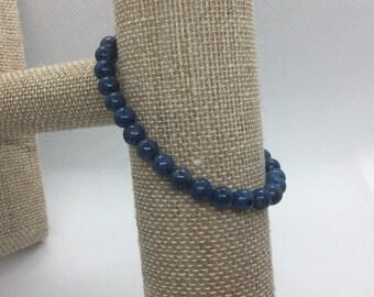 Denim Lapis Gemstone | Stretch Bracelet | Stacking Bracelet | Boho Bracelet | Crystal Bracelet | Healing Crystal Jewelry