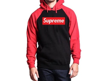 Supreme Black And Red Hoodie