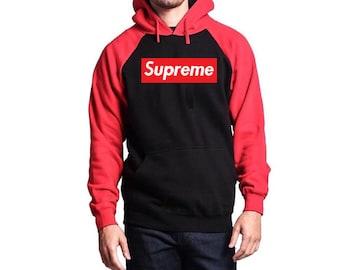 Supreme Black And Red Hoodie