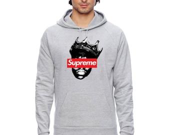 Supreme Grey Supreme Hoodie S-3XL