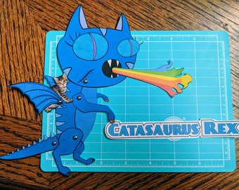 Catasaurus Rex - Articulated Paper doll