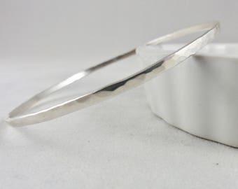Silver Textured Bangle Bracelet - Sterling Silver Bracelet, Silver Bangle, Bangle Bracelet, Bangles, Textured Bracelet, Hammered Bracelet