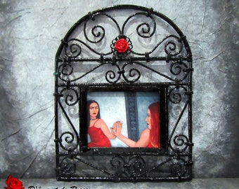 """Reproduction painting 18 artist Sylvie cow-Guy """"mirror"""". Oh! My mirror... Look at."""