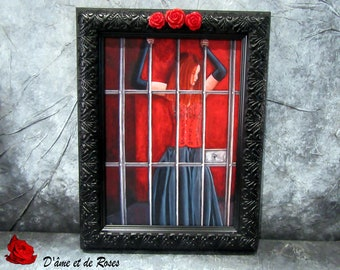"""Reproduction painting 12 artist Sylvie cow-Guy """"Enclosed"""""""