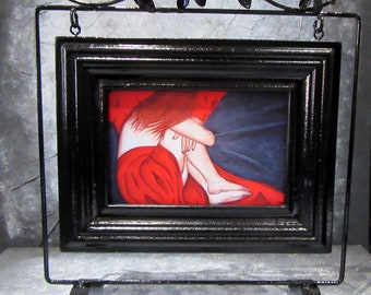 """Reproduction painting 19 artist Sylvie cow-Guy """"where will these moments... when I feel."""