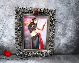 Reproduction painting 1 in aluminum frame with plexiglass