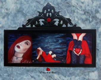 """Reproduction painting """"Sensuellement Gothic"""" framed Baroque"""