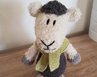 CUSTOM stuffed sheep Crochet Cotton
