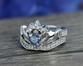 Engagement Ring 1ct Alexandrite Solitaire Sterling Silver 108