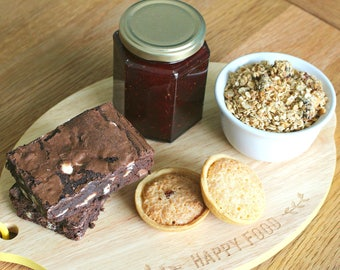 Edible Treats Gift Box - Brownies, Mini Tarts, Jam and Granola