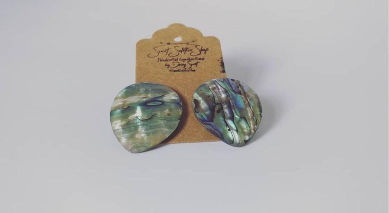 Sweet Sol Abalone Aura Stud Earrings