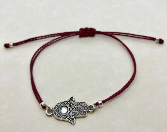 hamsa bracelet, adjustable string hamsa bracelet, adjustable bracelet, custom bracelet, gifts for her, party favors, bridesmaid gift