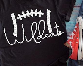 Wildcats, Football SVG, football mom, svg design, football shirt design, mom shirt, football cut file, wildcats football svg