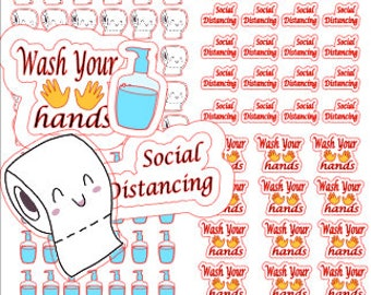 Toilet paper planner stickers, I survived stickers, daily planner stickers, happy planner, journaling & scrapbooking stickers
