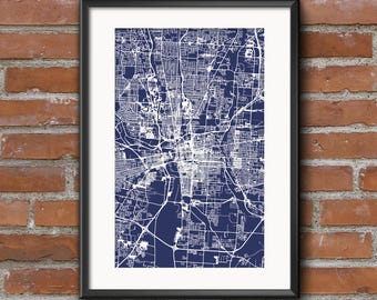 Columbus map print printable columbus map art columbus columbus map art print blueprint columbus poster columbus art columbus print free shipping malvernweather Choice Image