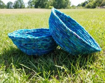 Beautiful blue fabric Baskets