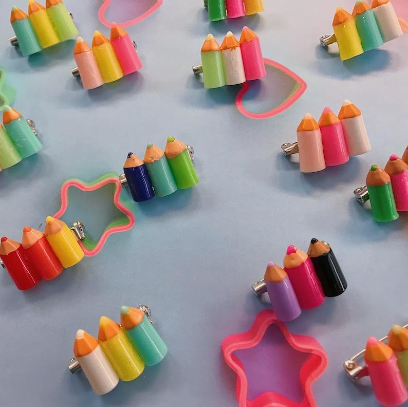 Colored Pencil Brooches