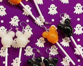 Mickey Inspired Halloween Lollipop Earrings