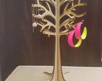 Wooden Tree Earring Holder/Organiser/Display Holds 30 pairs