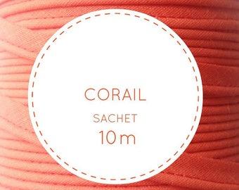10 m piping - orange coral 25 bag