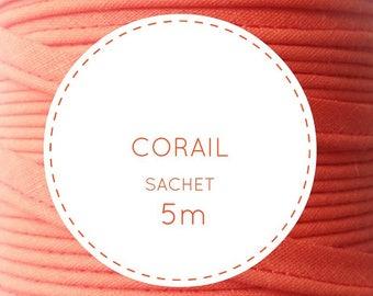 5 m piping - orange coral 25 bag