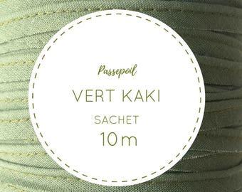 10 m cotton piping - Green Khaki bag
