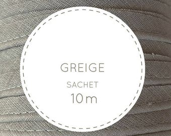 Bag 10 m bias - Greige, Taupe