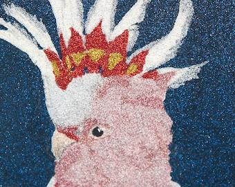 Glitter Painting - Leadbeater's Cockatoo
