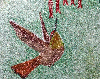 Glitter Painting - Ruby Topaz Hummingbird