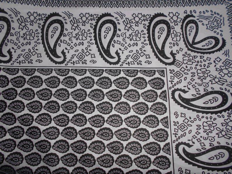 wax fabric black and white 82 cm x 116 cm