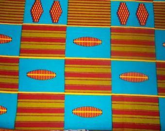 African kenté wax fabric