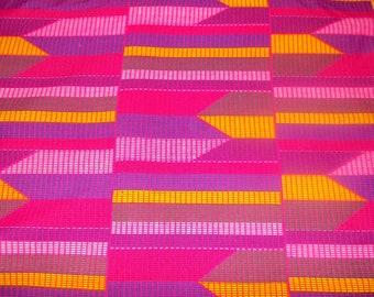 African fabric kenté wax POLYESTER