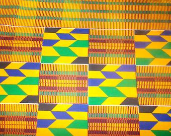 African fabric kenté wax