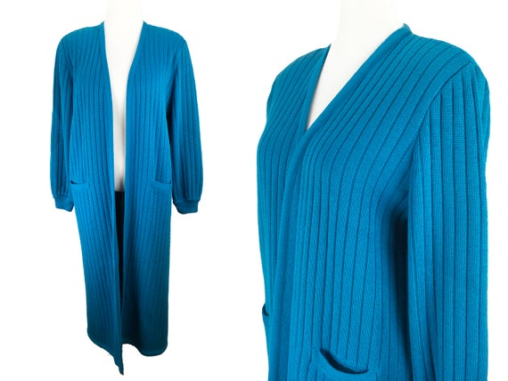 Vintage 1980s Maxi Cardigan Sweater Duster Lilli A