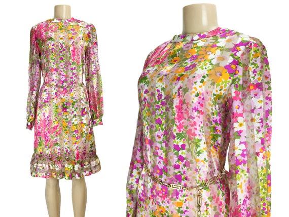 Vintage 1960s Dress Tina Leser Shift A-Line Size S