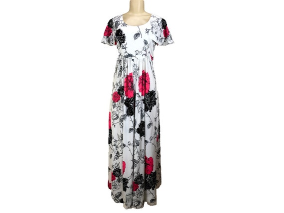 Vintage 1970s Maxi Dress Caftan Hostesss Gown Siz… - image 2