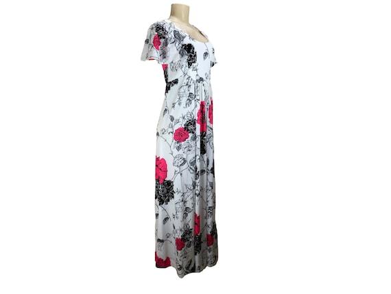 Vintage 1970s Maxi Dress Caftan Hostesss Gown Siz… - image 8