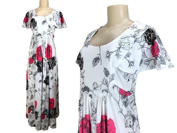 Vintage 1970s Maxi Dress Caftan Hostesss Gown Size