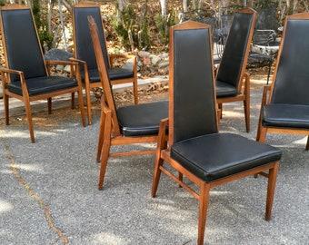 Mid Century Modern Dining Chairs - Set of 6 Foster McDavid
